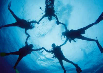 happt students at Amed White Sand Divers